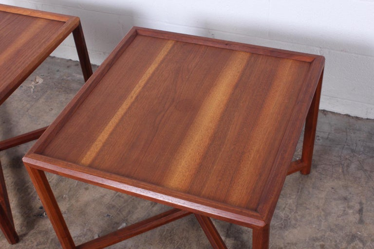 Pair of Tables by Edward Wormley for Dunbar For Sale 5