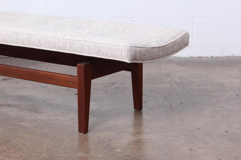 Mid-20th Century Large Walnut Bench by Jens Risom For Sale