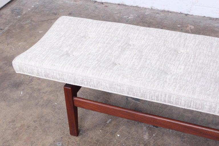 Large Walnut Bench by Jens Risom For Sale 3