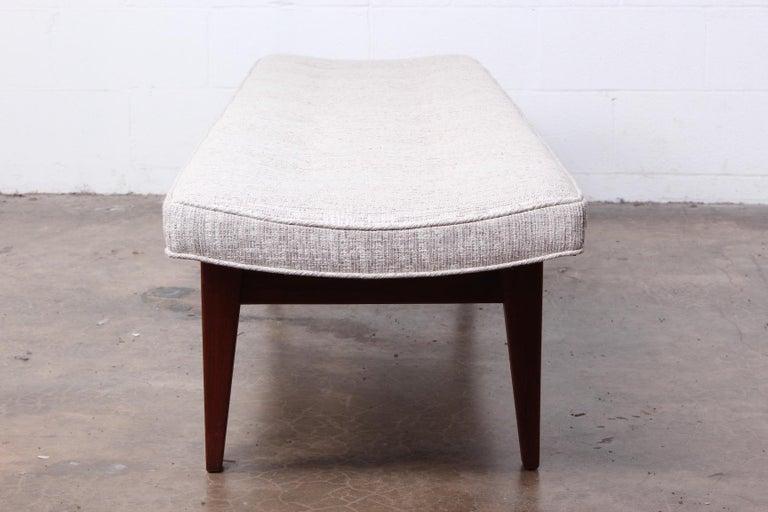 Large Walnut Bench by Jens Risom For Sale 4
