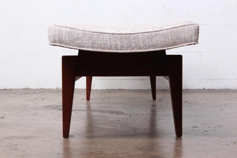 Large Walnut Bench by Jens Risom For Sale 5