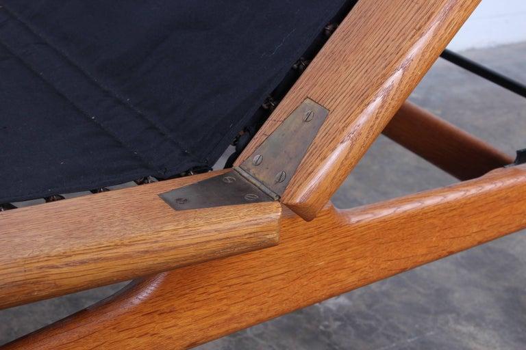 Pair of Oak Chaise Longues by Hans Wegner For Sale 2