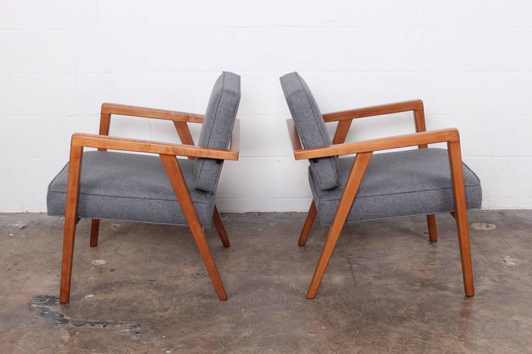 Pair of Lounge Chairs by Franco Albini For Sale 1