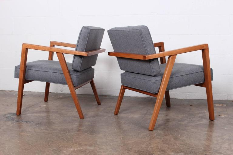 Pair of Lounge Chairs by Franco Albini For Sale 4
