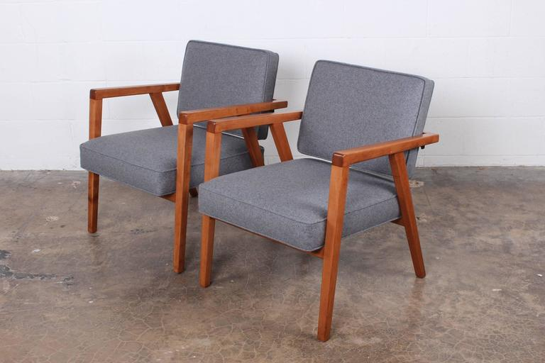 Pair of Lounge Chairs by Franco Albini For Sale 3