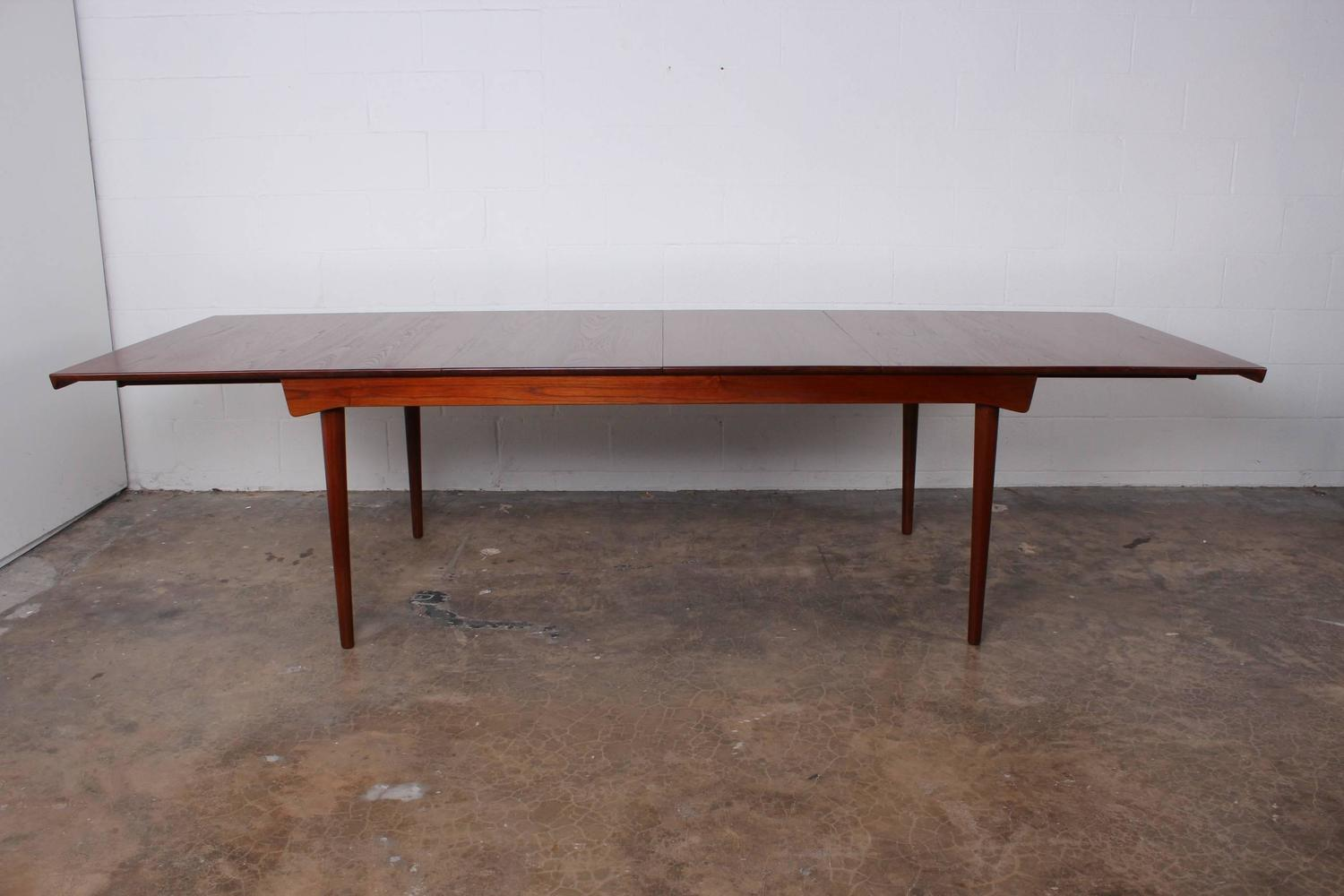 Solid teak dining table designed by finn juhl for sale at for 10 person dining table for sale