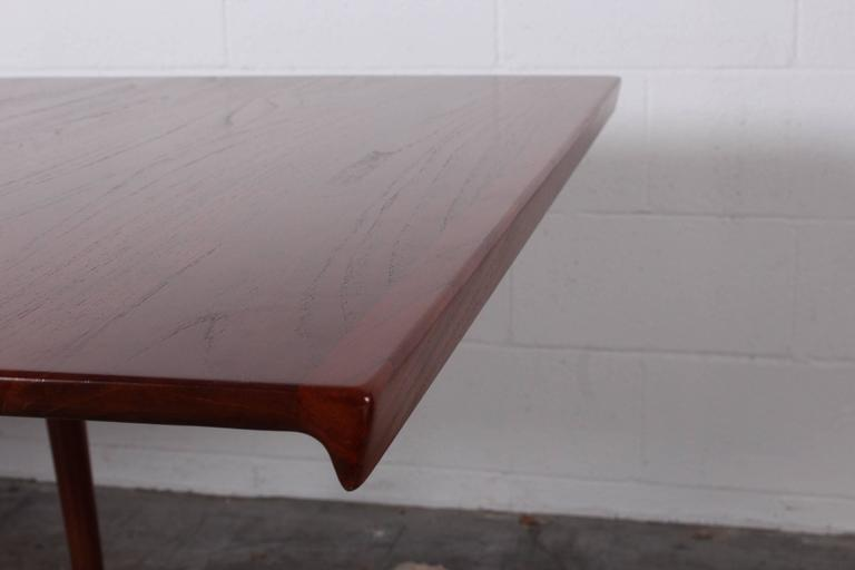 Solid Teak Dining Table Designed by Finn Juhl For Sale 3