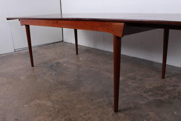Solid Teak Dining Table Designed by Finn Juhl In Excellent Condition For Sale In Dallas, TX