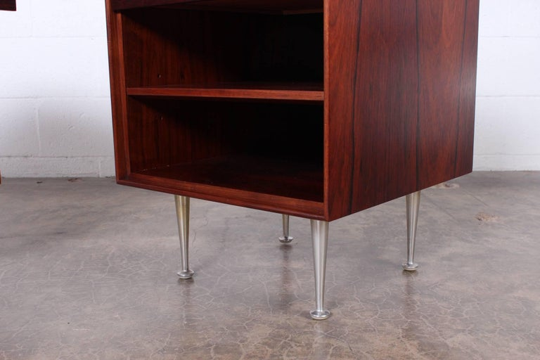 Pair of Rosewood Thin Edge Nightstands by George Nelson For Sale 3
