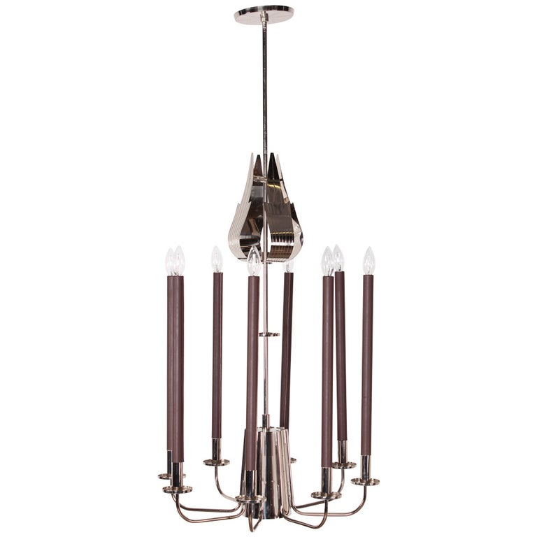 Large Chandelier by Tommi Parzinger For Sale