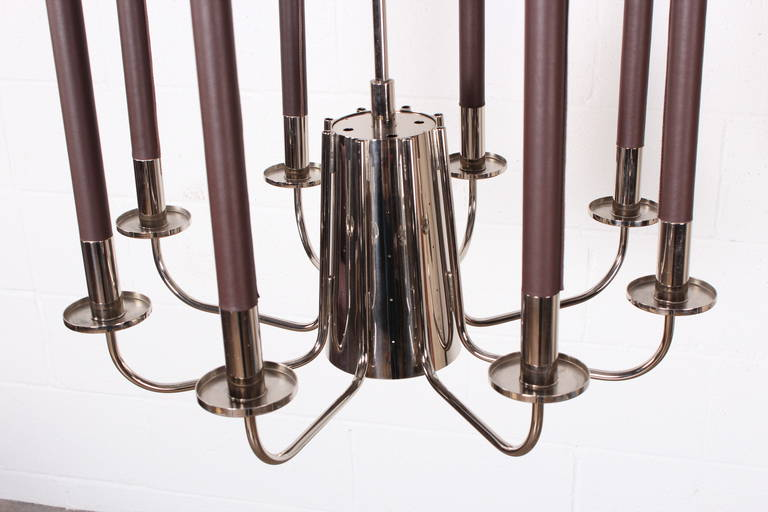 Mid-20th Century Large Chandelier by Tommi Parzinger For Sale