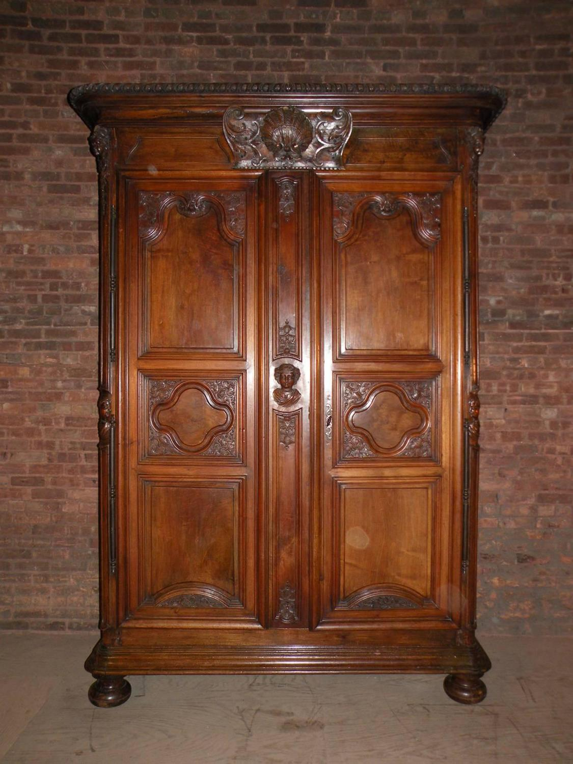 monumental superb french louis xiv armoire for sale at. Black Bedroom Furniture Sets. Home Design Ideas
