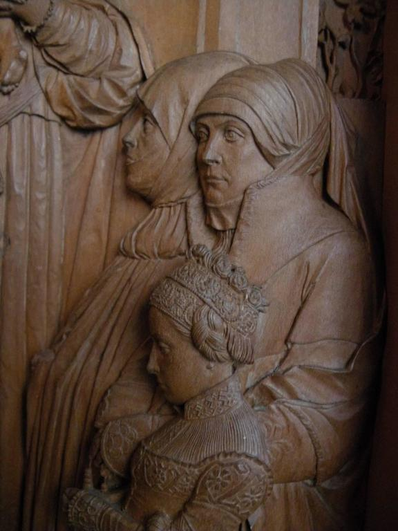 Renaissance 19th century Bas-Relief by Peter Nocker after Hans Holbein's Darmstadter Madonna For Sale