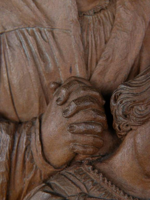 19th Century 19th century Bas-Relief by Peter Nocker after Hans Holbein's Darmstadter Madonna For Sale