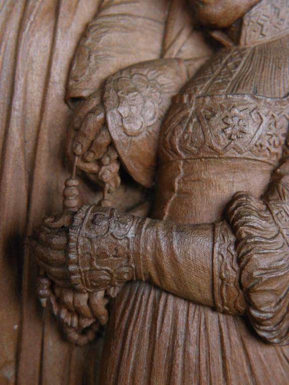 19th century Bas-Relief by Peter Nocker after Hans Holbein's Darmstadter Madonna For Sale 1