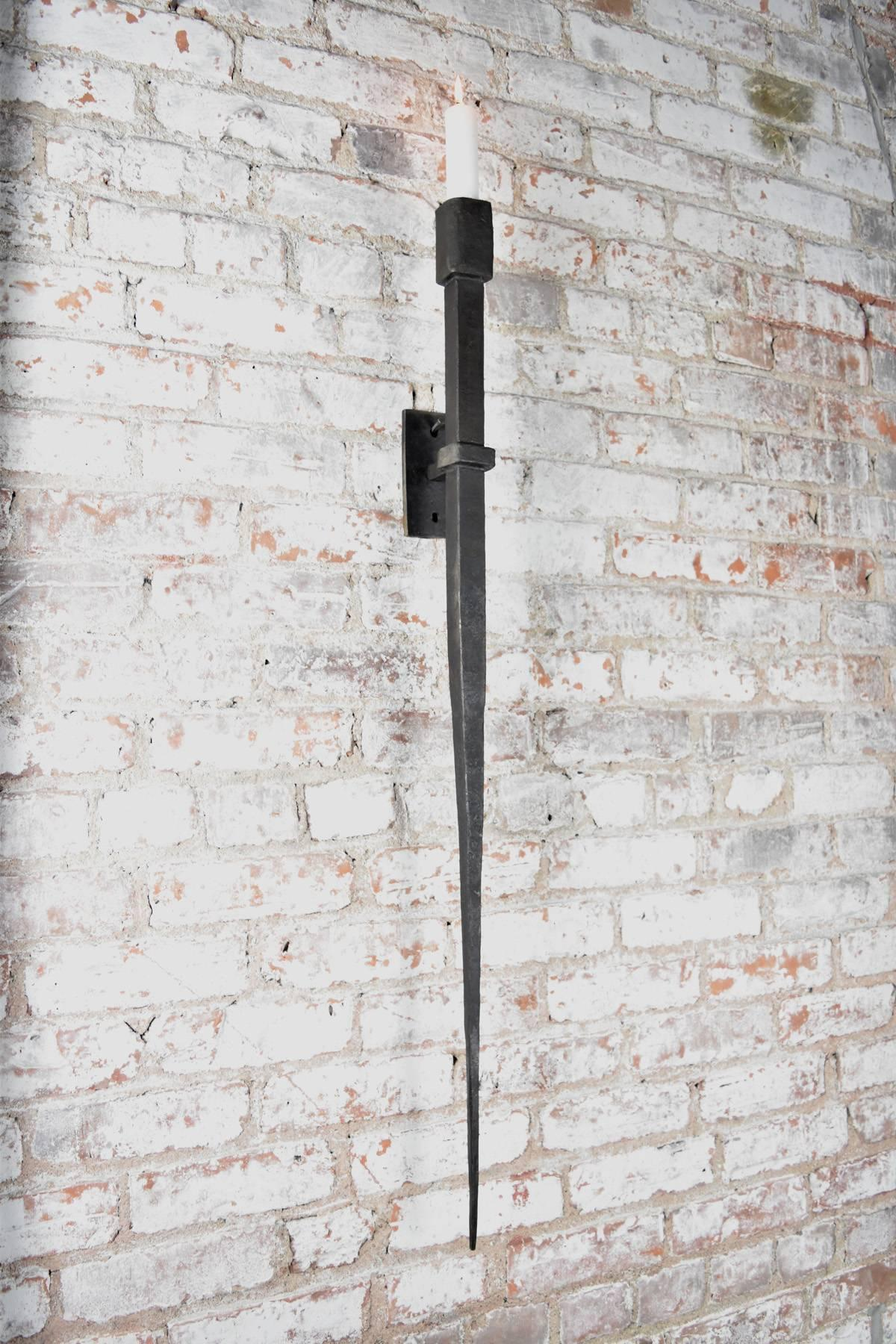 Wrought Iron Wall Sconces Forged Material