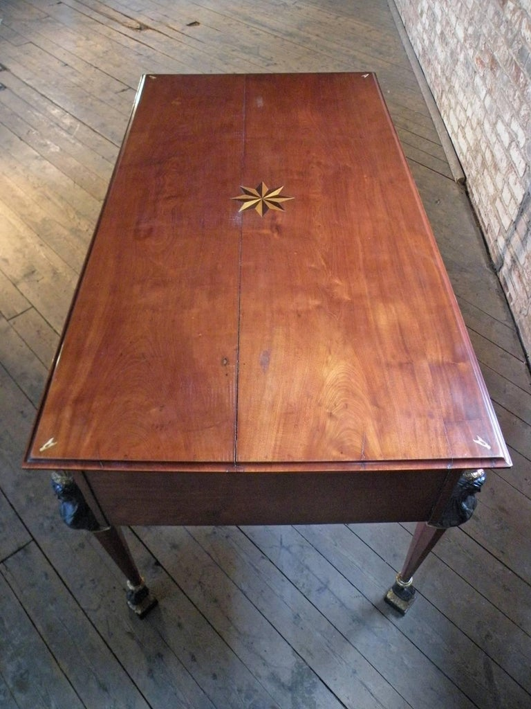 French 19th Century Empire Mahogany Partners Desk For Sale 2
