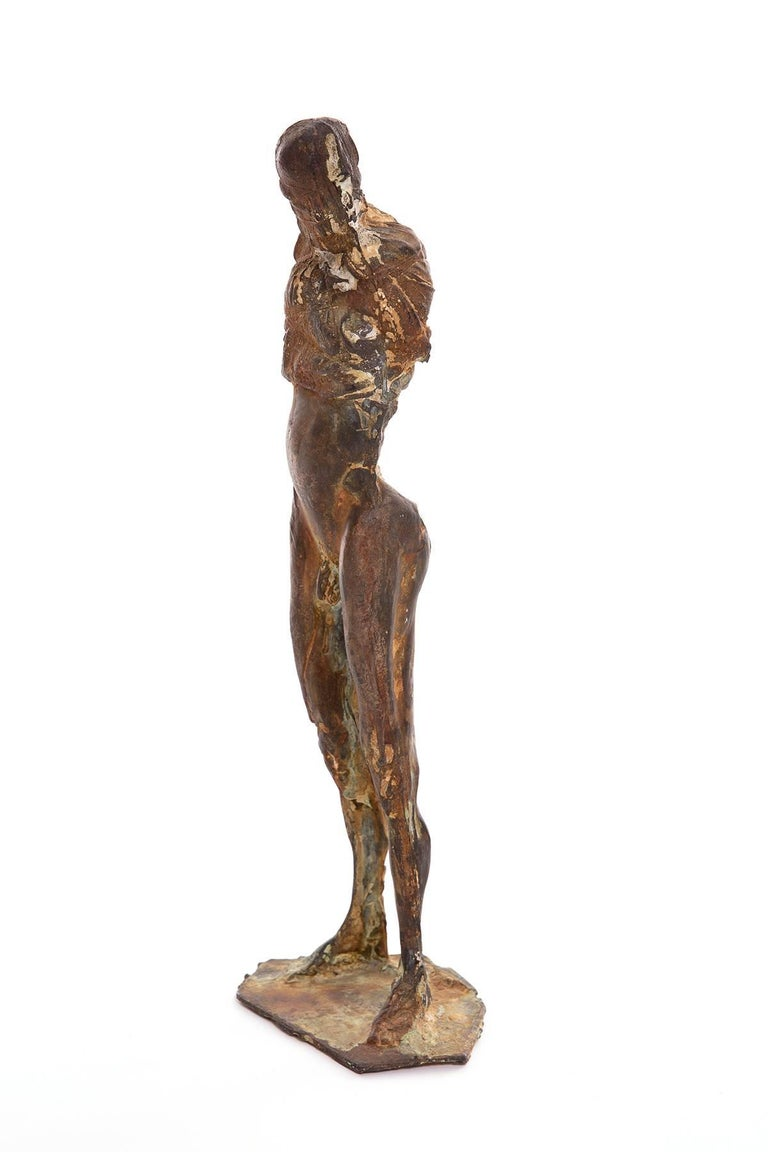 Mid-Century Modern Bronze Sculpture by Carl Dahl For Sale