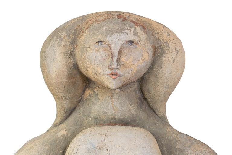 Mid-Century Modern Maxine Kim Stussy Monumental Concrete Sculpture For Sale