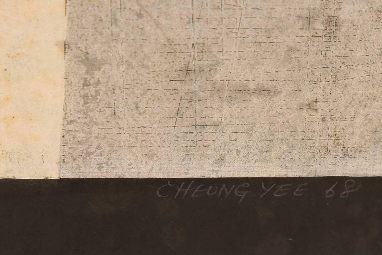 Mid-Century Modern Cheung Yee 'Magic Square' Woodblock Print For Sale