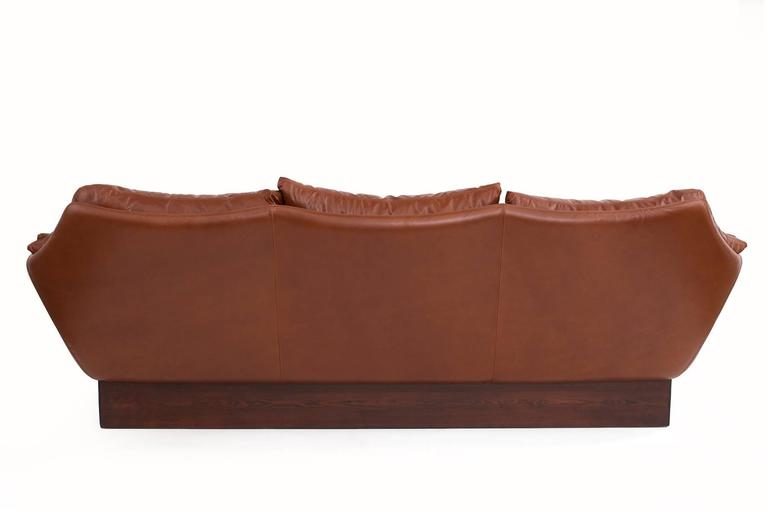 Phenomenal Danish Leather Sofa 6