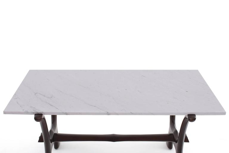 Mid-Century Modern Marble Cocktail Table by Fredrik Schriever-Abeln in Teak & Calacatta  For Sale