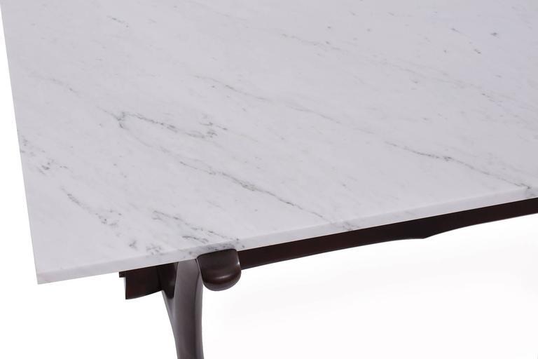 German Marble Cocktail Table by Fredrik Schriever-Abeln in Teak & Calacatta  For Sale