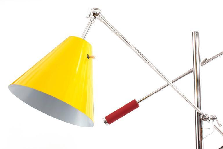 Sonneman Three Arm Large Scale Adjustable Floor Lamp At