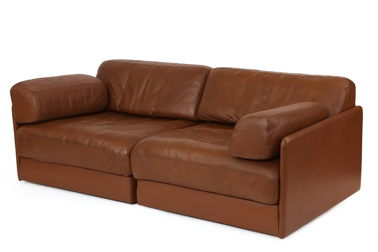 De Sede Convertible Leather Sofa Or Chairs For Sale At 1stdibs
