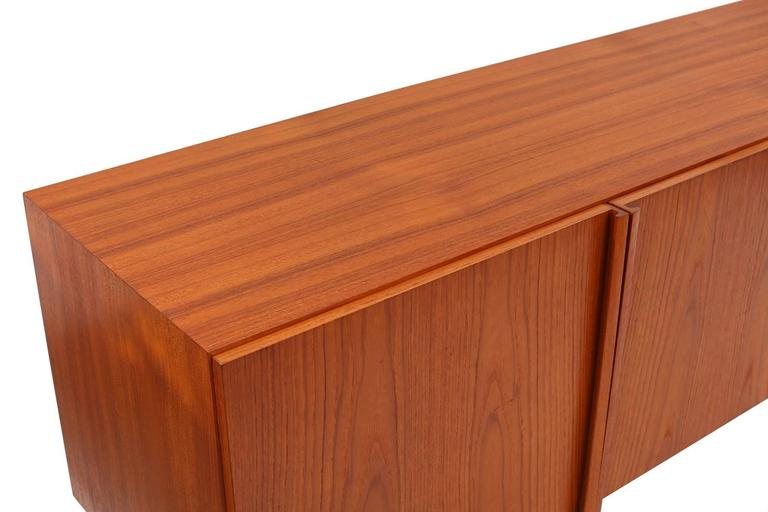 Mid-Century Modern Ib Kofod-Larsen Beautifully Grained Teak Credenza For Sale