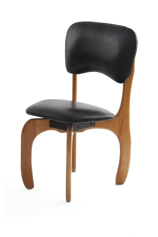 Eight Don Shoemaker Cocobolo And Leather Dining Chairs For