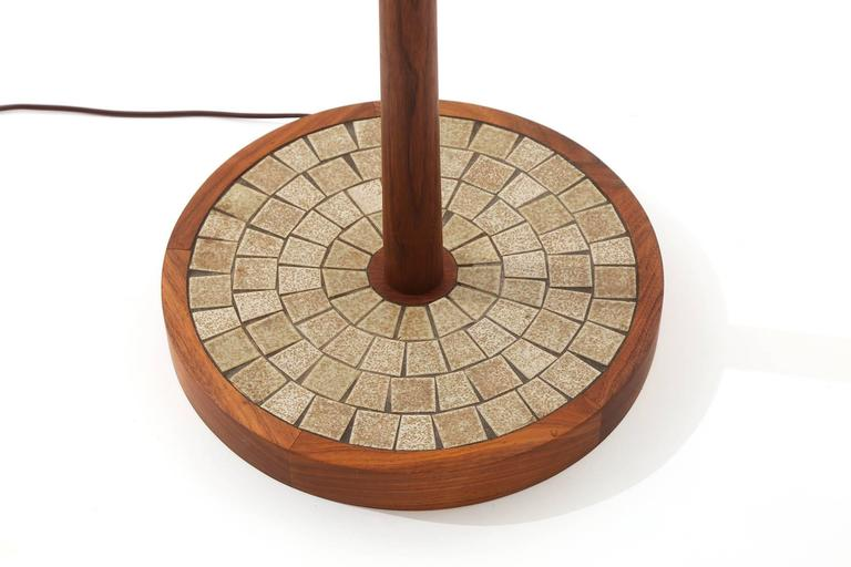 Martz Walnut And Mosaic Tile Floor Lamp At 1stdibs