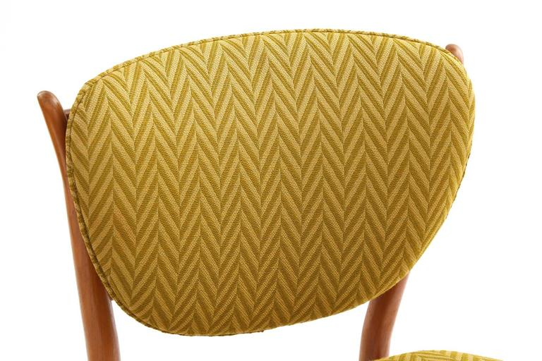 Danish Four Finn Juhl Sculpted Teak Dining Chairs For Sale