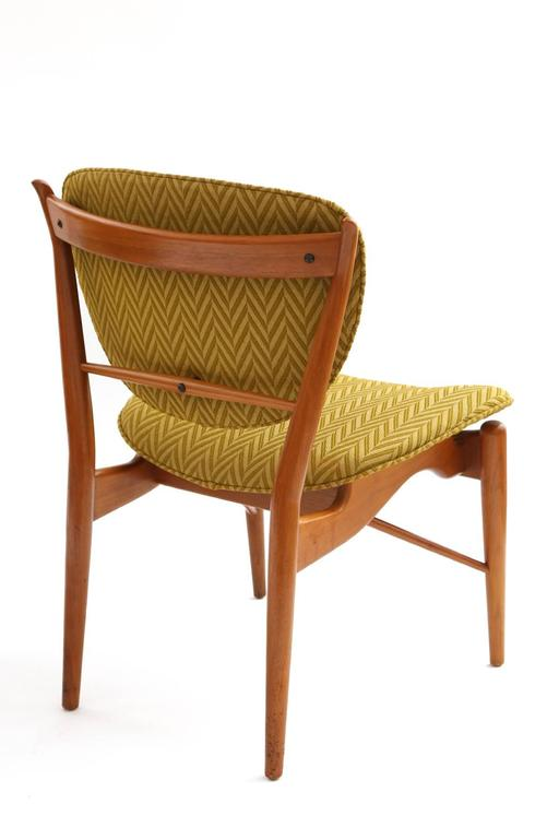 Four Finn Juhl Sculpted Teak Dining Chairs In Excellent Condition For Sale In Phoenix, AZ