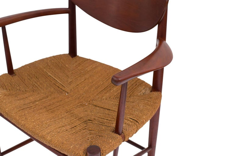Six Hvidt & Mølgaard-Nielsen Teak and Cord Dining Chairs In Excellent Condition For Sale In Phoenix, AZ