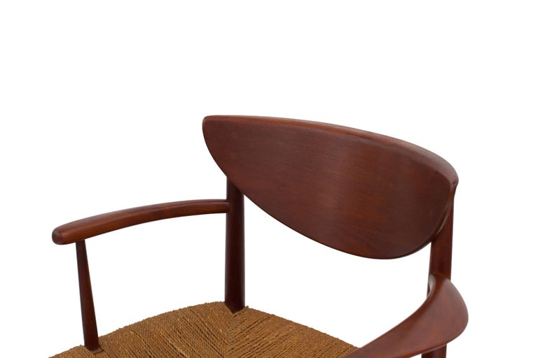 Mid-20th Century Six Hvidt & Mølgaard-Nielsen Teak and Cord Dining Chairs For Sale