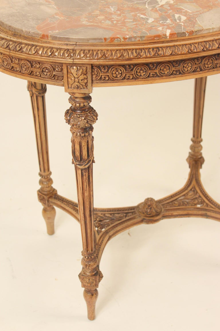 Louis XVI Style Marble-Top Occasional Table For Sale 3