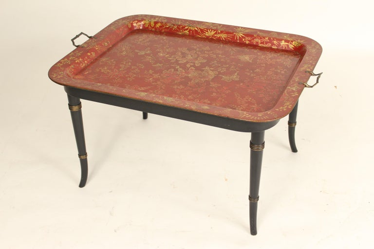English Regency Style Tray Table In Good Condition For Sale In Laguna Beach, CA