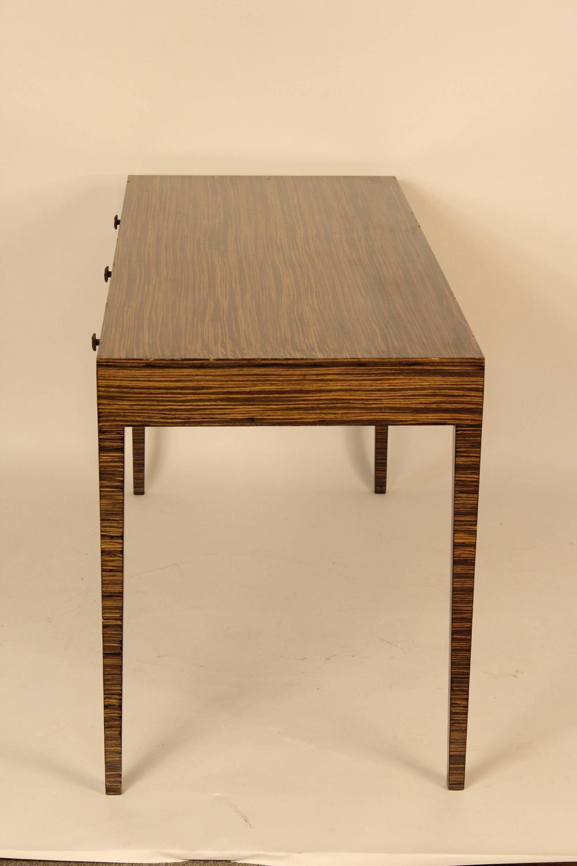 zebra wood desk for sale at 1stdibs. Black Bedroom Furniture Sets. Home Design Ideas