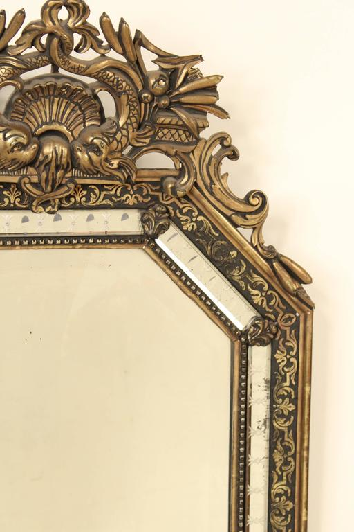Early 20th Century Napoleon III Style Giltwood Mirror For Sale