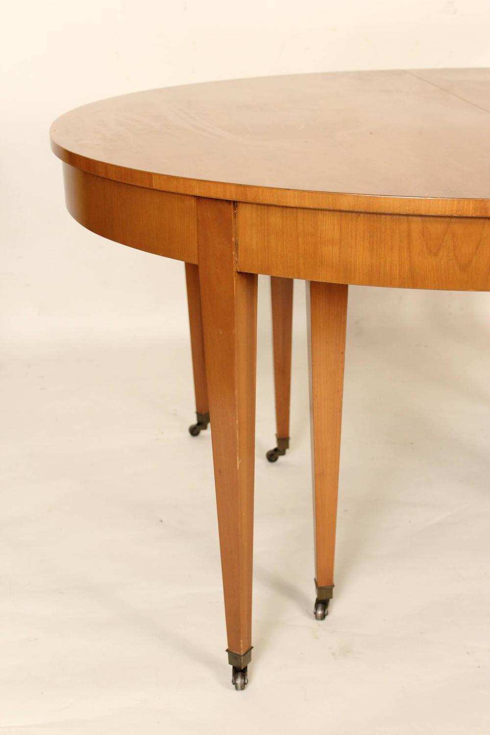 biedermeier style dining table by baker and four chairs at 1stdibs