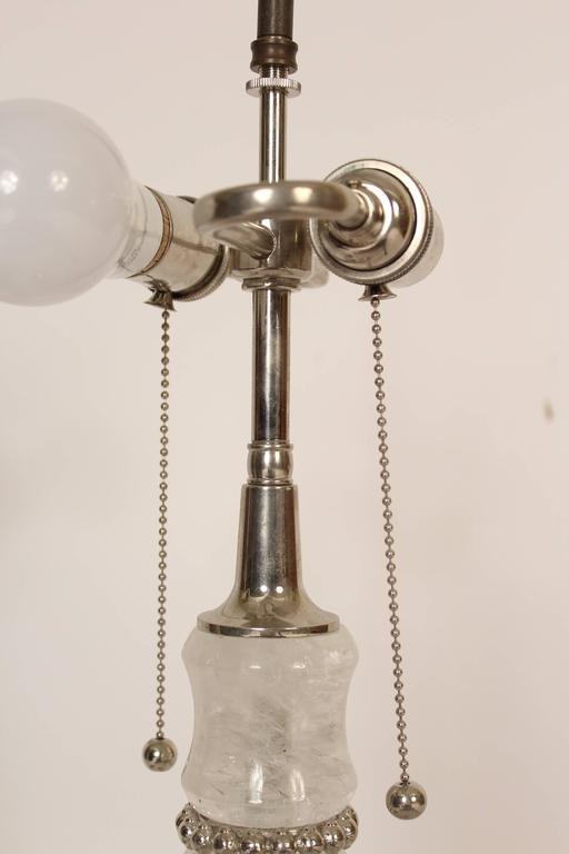 Pair of Rock Crystal and Marble Table Lamps In Excellent Condition For Sale In Laguna Beach, CA