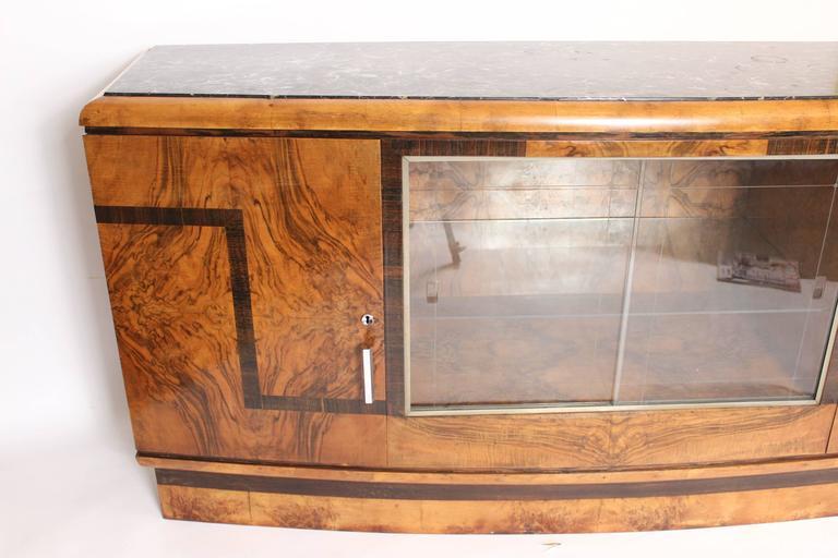 Art Deco Burl Walnut Sideboard 2