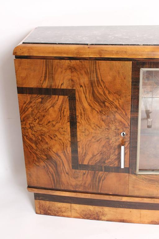 Art Deco Burl Walnut Sideboard 4