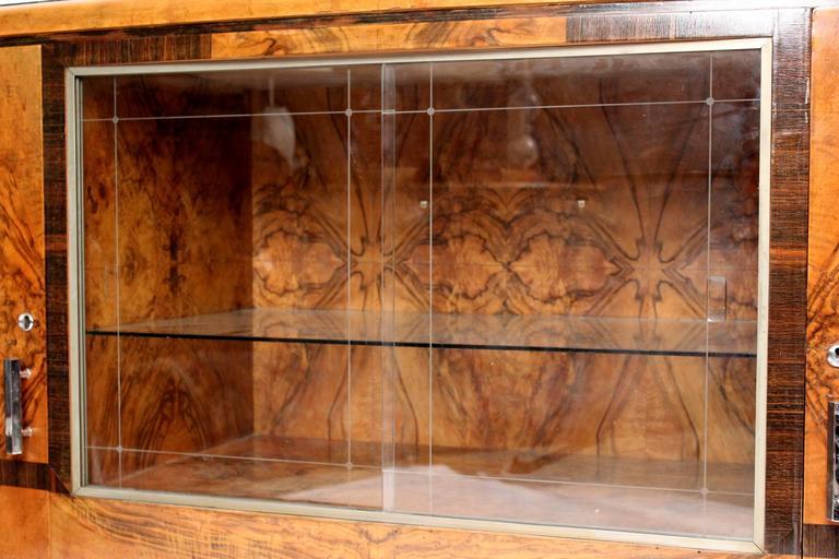 Art Deco Burl Walnut Sideboard 5