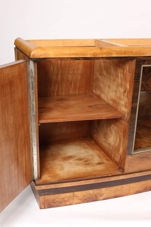 Art Deco Burl Walnut Sideboard 7
