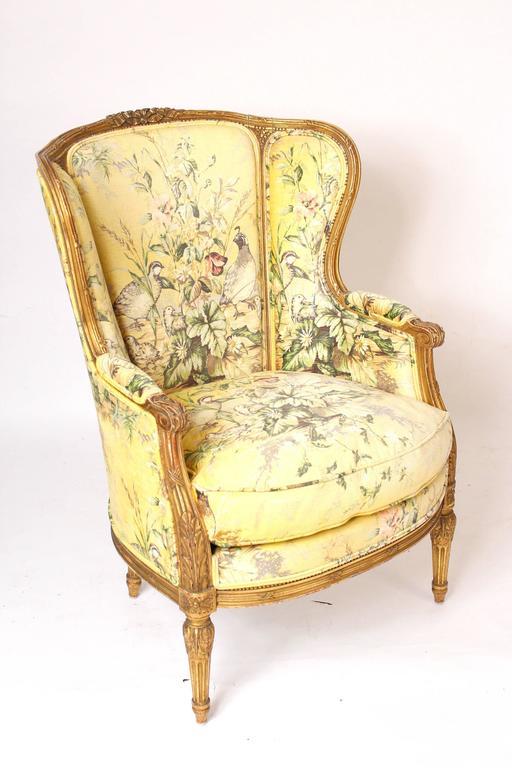 Pair of Louis XVI Style Bergeresd 2