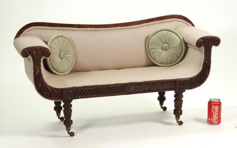 19th Century Regency Mahogany Child's Sofa, c. 1820 For Sale