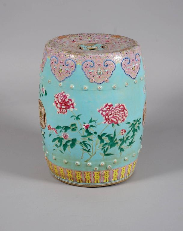 Chinese Export Barrel Garden Seat At 1stdibs