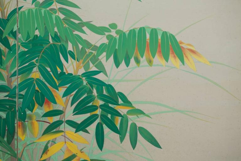 Mid-20th Century Japanese Two Panel Screen:  Edge of the Forest